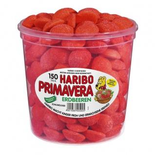 Haribo Primavera große rote gezuckerte schaumzucker Erdbeeren 1050g