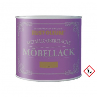 Rust Oleum Metallic Oberfläche Möbellack Gold kreidig matt 125ml