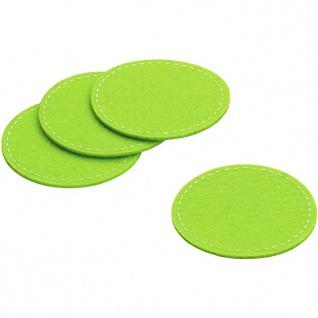 Glas Untersetzer Filz keck und lang Serie ALIA grün 10 cm 4 Teilig