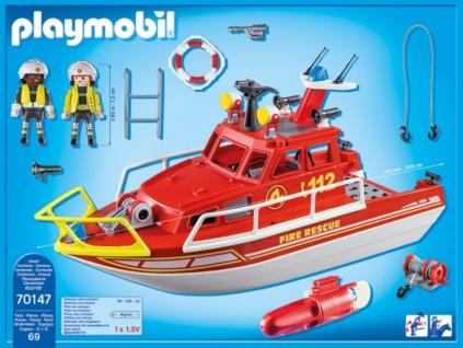 Playmobil City Action Feuerlöschboot Konstruktionsspiel 70147