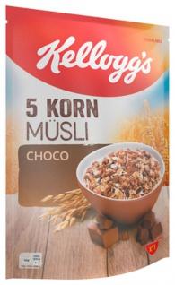 Kelloggs 5 Korn Müsli Choco verschiedene Cerealien mit Schokolade 500g