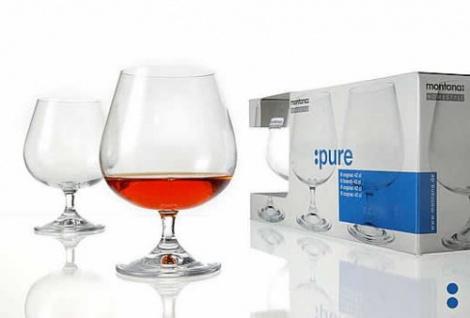 Cognacglas Weinbrandschwenker Cognac Montana Serie PURE 40ml 6er Set