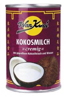 Wan Kwai Kokosmilch, cremig aus gepresstem Kokosfleisch und Wasser, 8er Pack (8 x 160 ml Dose)