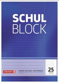 Schulblock DIN A4 Lineatur 25