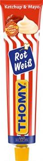 Thomy Rot Weiß der klassiker Ketchup und Mayonnaise Tube 200ml