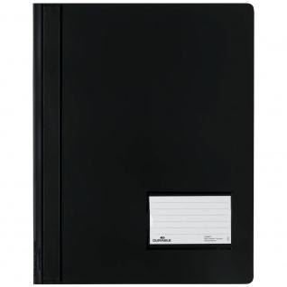 Schnellhefter Duralux schwarz passend für das Büro und Homeoffice 10er Pack