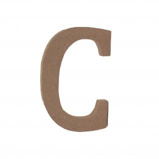 Bastelbuchstabe C Holzbuchstabe zum basteln Buchstabe aus Holz