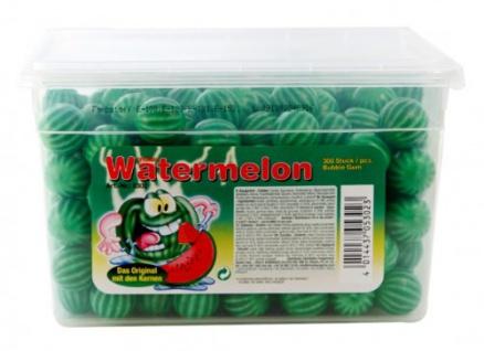 Kaugummi Saure Wassermelonen Bubble Gum 300 Stück Dose 1600g