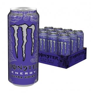 Monster Energy Ultra Violet Erfrischungsgetränk 500ml 12er Pack