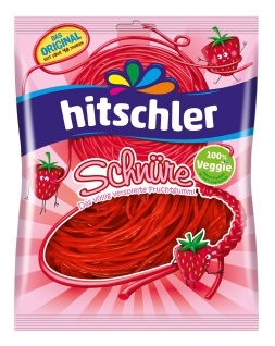 Hitschler Erdbeer Schnüre fruchtige Schnüre mit Erdbeergeschmack 125g