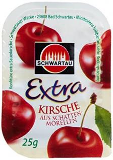 Schwartau Kirsch Konfitüre 100er Set je 25g