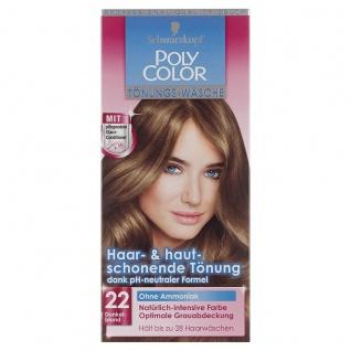 Schwarzkopf Poly Color Tönungs Wäsche 22 Stufe 2 Dunkelblond 105ml