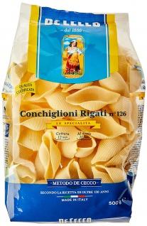 De Cecco Conchiglioni Rigati Nr 126 aus Hartweizengriess 500g