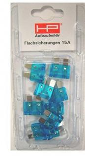 Stecksicherung 15 Amp. Farbe Blau, Inh. 10 Stk. 81540