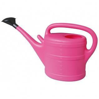 Gießkanne 10 l pink Aufsteckbrausekopf aus hochwertigem Kunststoff