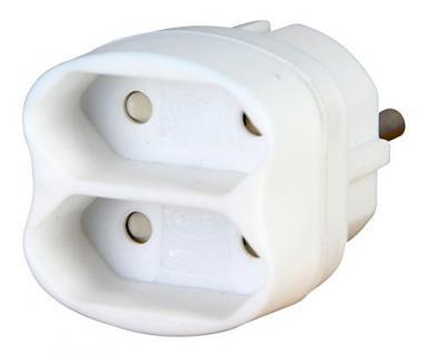 Kopp Euro Adapter 2-fach, 1 Stück, arktis/weiß, 174102001
