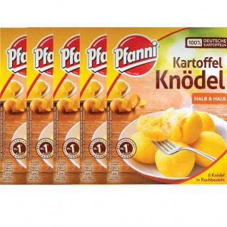 Pfanni Kartoffel Knödel halb und halb 6 Stück im Beutel 200g 5er Pack
