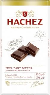 Hachez Edel Zartbitter Schokoladen Tafel ausgesuchter Kakao 100g