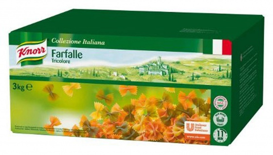 Knorr Farfalle Tricolore Schmetterlingsnudeln feinste Qualität 3000g