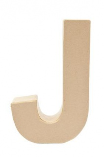 """Pappmache Buchstabe """" J"""" stehend zum basteln kreativ Rico Design Idee"""