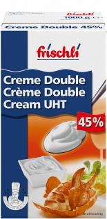 Frischli Creme Double 45% Sahniger Rahm für maximalen Geschmack 1000g