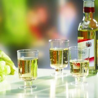 Stiel Gläser für Weißwein Polystyrol glasklar einteilig 10 Stück