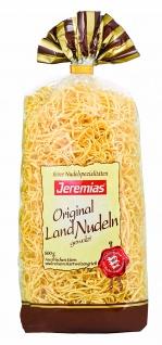Jeremias Gourmet Bandnudeln 2mm gewalzt mit Frischei 500g 2er Pack