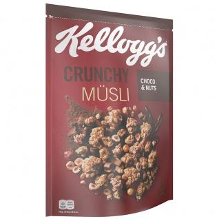 Kelloggs Crunchy Müsli Choco und Pistachio knusprige Cerealien 425g