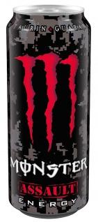 Monster Assault Energy Drink mit Taurin und Koffein mit Cherry 500ml