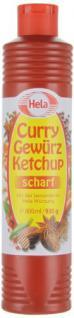 Hela Curry Gewürz- Ketchup scharf, 6er Pack (6 x 800 ml Tube)