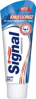 Signal Zahnpasta Kariesschutz mit Natriumfluorid 450ml 6er Pack
