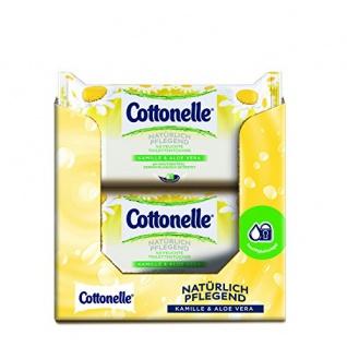 Cottonelle Feuchtes Toilettentücher Natürlich Pflegend Nachfüllpack, 12er Pack (12x 42 Tücher)