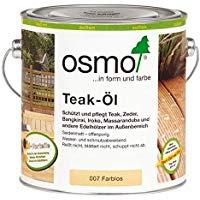 Osmo in Form und Farbe Teak Öl farblos zum schützen und pflegen 2500ml