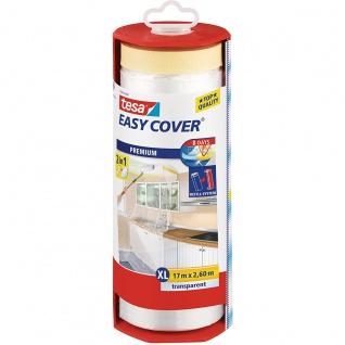 Tesa Easy Cover Folie XL transparent mit Malerband 17m x 260cm