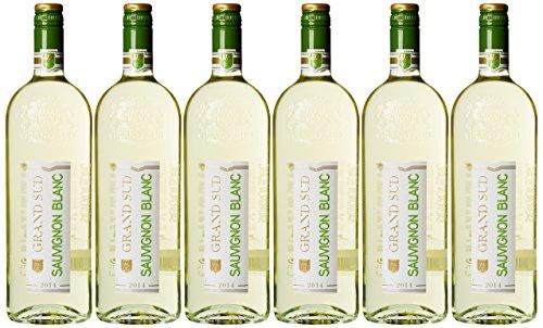 Grand Sud Sauvignon Blanc Weißwein aus Frankreich Halbtrocken 6x1000ml