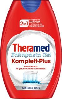 Theramed 2in1 Zahnpasta Gel Komplett Plus Rundumschutz 75 ml 3er Pack