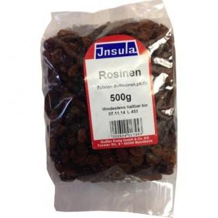 Rosinen von Insula verzehrfertig zum Kochen Backen und Naschen 500g