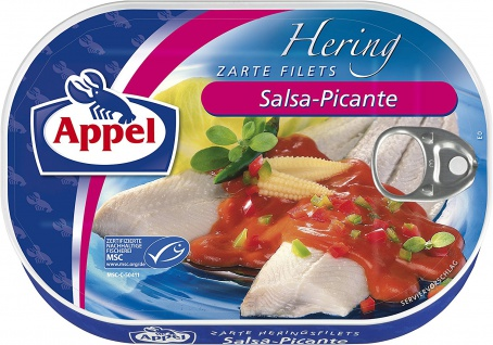 Appel Heringsfilets Salsa Picante in feurig scharfer Sauce 200g