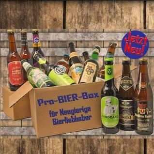 Pro BIER Box Sortierte Box mit 12 Flaschen außergewöhnliche Biere