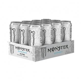 Monster Energy Ultra White Erfrischungsgetränk 500ml 12er Pack