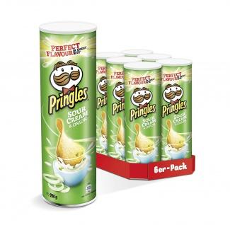 Pringles Cheese und Onion Käse und Zwiebelgeschmack 200g 6er Pack