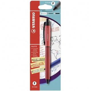 STABILO PALETTE Gel Tintenroller Größe F mit Klickmechanik in Rot