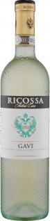Ricossa Gavi DOCG trocken italienischer Weisswein 750ml 3er Pack