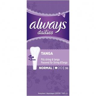 Always Tanga Slipeinlagen Normal für frische Gefühl 36 Stück 4er Pack
