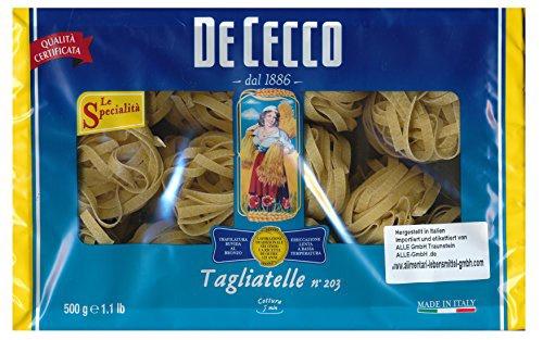 De Cecco Tagliatelle Nr.203 Pasta aus Hartweizen 500g 6er Pack