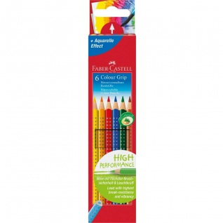 Faber Castell Colour Pencil Farbstift Colour Grip 2001 6er Etui