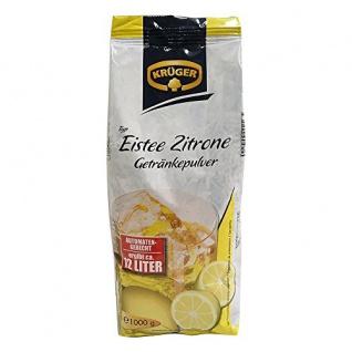 Krüger Eistee Zitrone Getränkepulver für 12 Liter Getränk 1kg