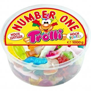 Trolli Number One, noch bunter noch lustiger Fruchtgummi Schaumzucker Mix 1 kg