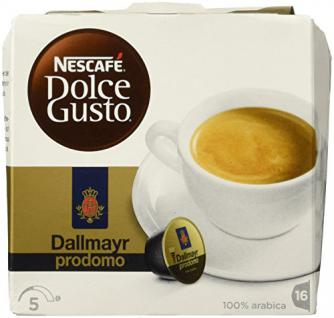 Nescafé Dolce Gusto Kaffeekapseln, Dallmayr Prodomo, 16 Kapseln für 16 Getränke, 340g