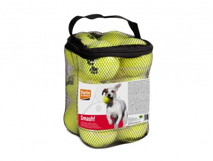 Hundespielzeug Karlie Spielzeugtrommel 12 Tennisbällen 2er Pack